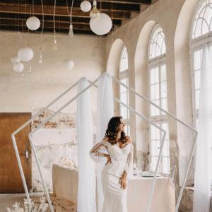 Geometrischen Traubogen für Hochzeiten mieten in Freiburg