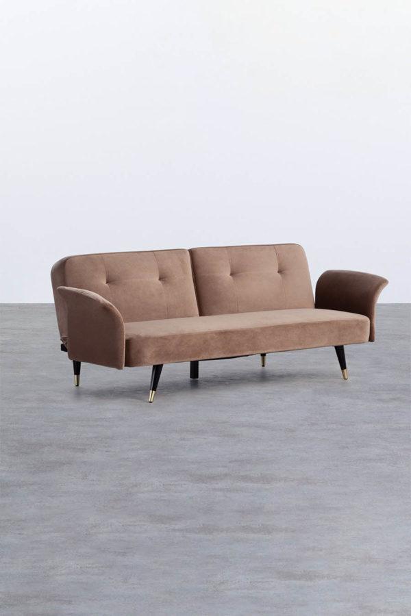 Lounge Sofa, 3-Sitzer Samt Sofa in Latte Macchiato mieten im online Eventverleih für Hochzeiten & Events