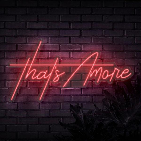 Neon Schriftzug That's Amore online mieten und per Versand erhalten